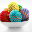 Bowl with easter eggs - Stock Photo
