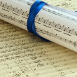Stock Photo: Music composition closeup