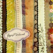 Gypsy Patchwork, Hand-Painted Background — Image vectorielle