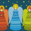 Stock Vector: Three angels