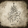 Goth Christmas tree with black snowflakes - Stock Vector