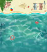 Summer Beach Background — Stock Vector