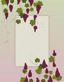Vineyard, Grapes Background — Stock Vector