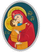 Mother of God with Christ Child — Stock Vector