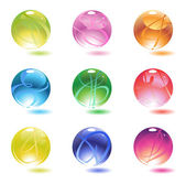 Set of colorful glossy balls — Stock Vector