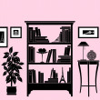 Home Accessories - Bookshelf — Stock Vector #9219980