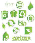 Bio Peel-off Stickers — Vector de stock