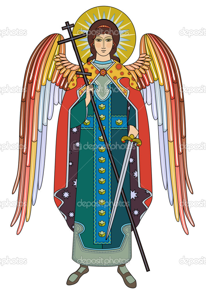 Vector icon of Archangel Michael — Stock Vector #9219833