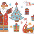 Royalty-Free Stock Vector Image: Vintage Christmas - Design Elements