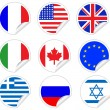 Flags - Peel Off Stickers — Stock Vector #9220559