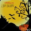 Creepy Halloween Background - Stock Vector