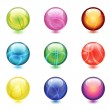 Shiny Glass Marbles - Stock Vector