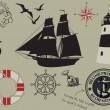 Nautical Design Elements — Stock Vector