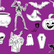 Doodle Halloween Design Elements — Stock Vector