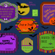 Royalty-Free Stock Vector Image: Halloween labels, invitations and stamps