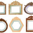 Stock Vector: Wood Frames