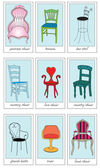 Musical Chairs — Stock Vector