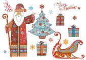 старинные рождественские - элементы дизайна — Cтоковый вектор