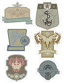 Grungy Shields and Crests — Stock Vector