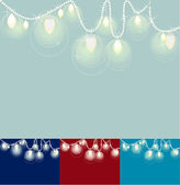 Festive Lights on a String of Pearls — Stock Vector