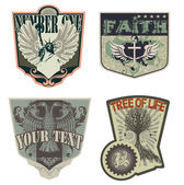 Rock 'n' roll badges — Vettoriale Stock