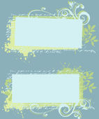 Romantic Grunge Labels — Stock Vector