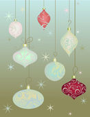 Vintage Christmas Baubles — Stock Vector