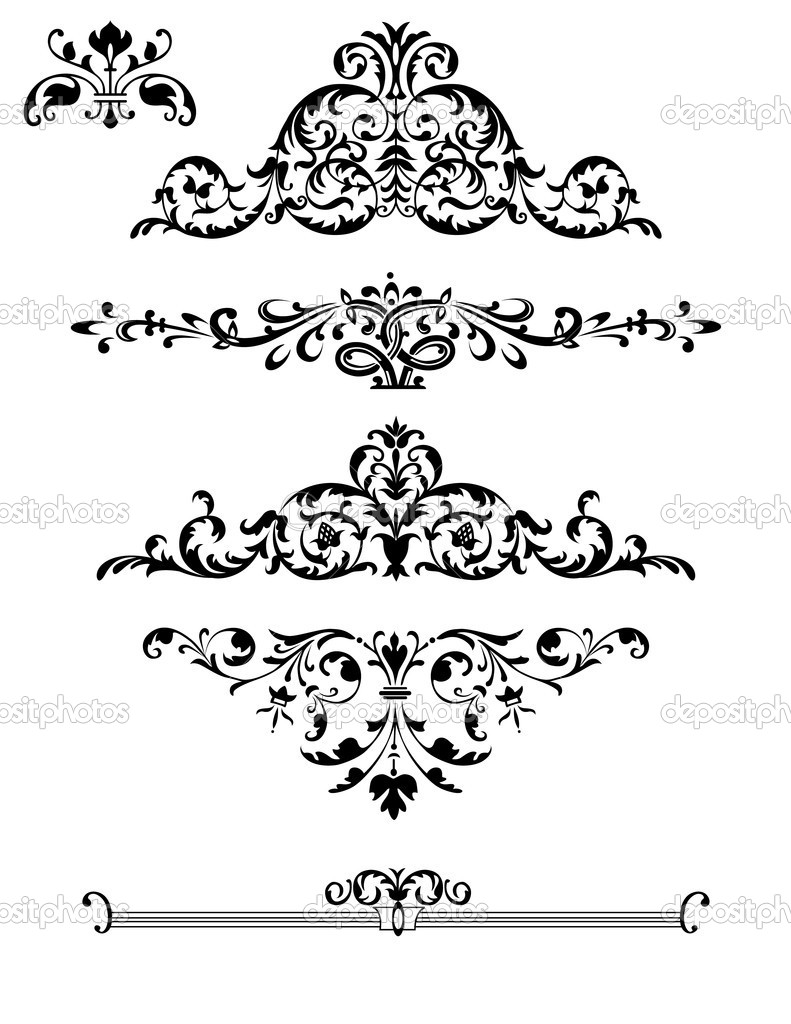 Black And White Elegant Border