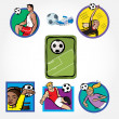 Soccer Set Icon — Stock Vector