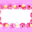 Vettoriale Stock : Pink romantic Card flowers, vector abstraction