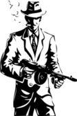 Dibujo - el gángster - una mafia — Vector de stock
