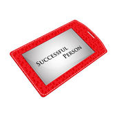 Red badge of the successful person — Stock Vector
