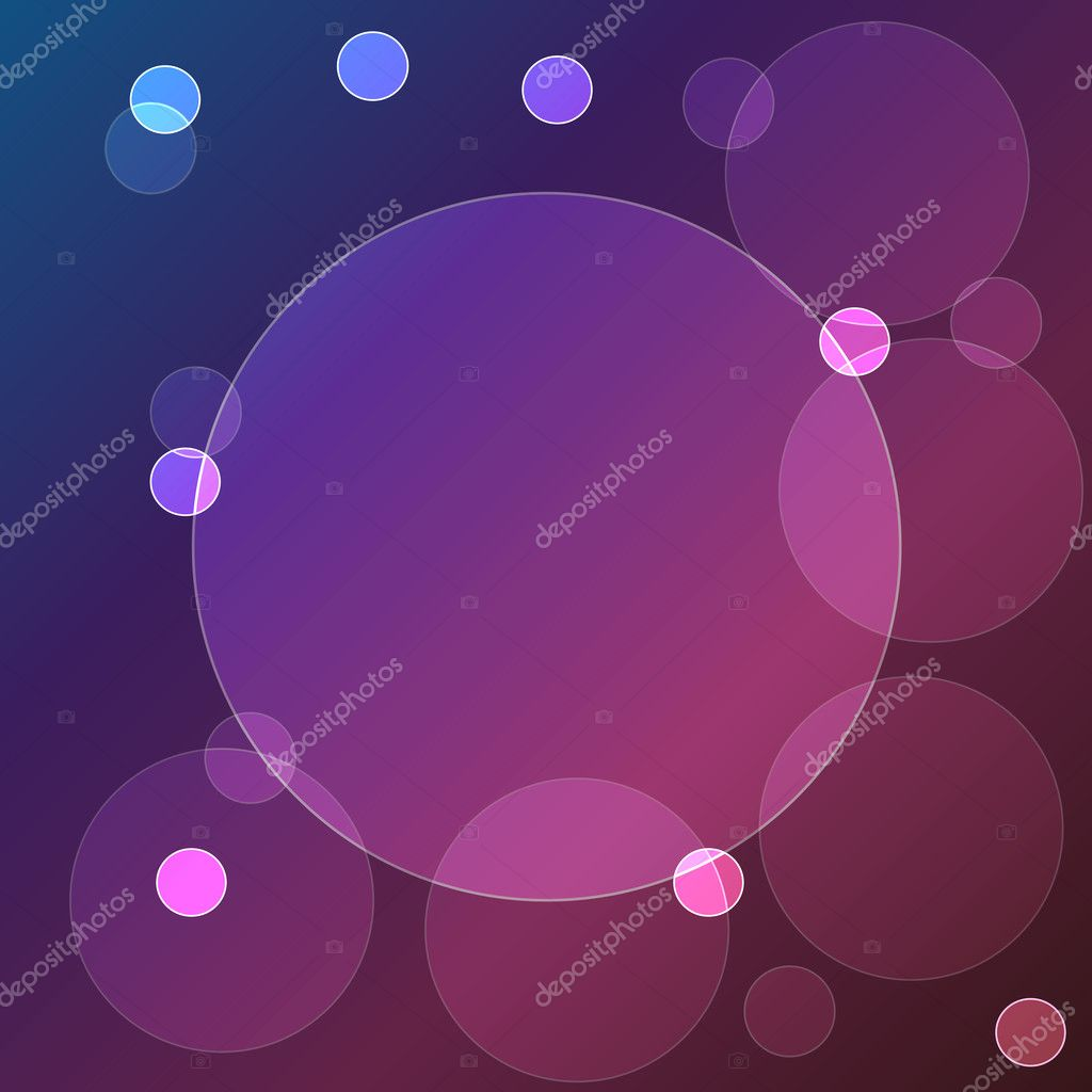 Vector bokeh lights on multi color background. — Vettoriali Stock  #9729217