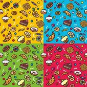 Seamless pattern: Sweets — Stock Vector