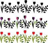 装飾的な花の境界線 — ストックベクタ