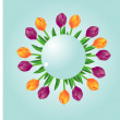 Sphere with tulips - Stock Photo