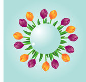 Sphere with tulips — Stock Photo
