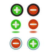 Add/remove buttons — Zdjęcie stockowe