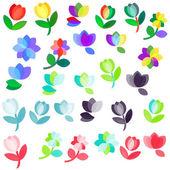 Flowers logo — Stock Vector