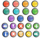 Buttons set — Vettoriale Stock