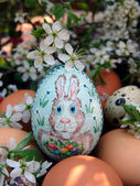 Easter egg hand painted — Stock Photo