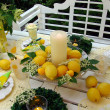 Table decoration with lemons. — Stock Photo #9759298