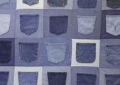 Vintage Blue Jean Pockets — Stock Photo