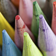Pastel Colored Art Pencils Tips - Stock Photo