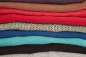 Pile of Sweaters — Stock Photo