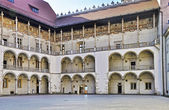 Renaissance Courtyard of Wawel Castle in Krakow — Stock Photo