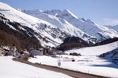 Small village and ski resort in Tirol — Stock Photo