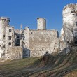 Castle ruins in Ogrodzieniec, Poland - Stock Photo