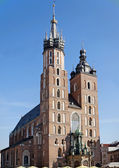 St Mary Church in Krakow — Stock Photo