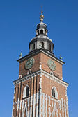 Town hall tower in Krakow — Stock Photo